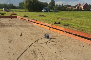 Voorbereiding aanleg rietveld - Proper afvalwater
